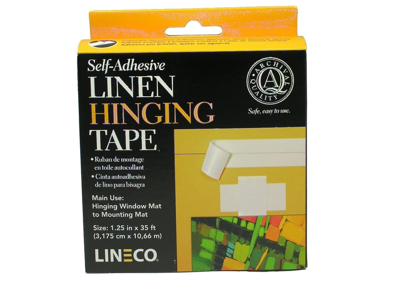 Lineco Self-Adhesive White Linen Tape