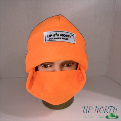 Orange Winter Hat with Face Cover