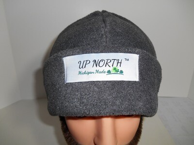 Grey Winter Hat with Face Cover