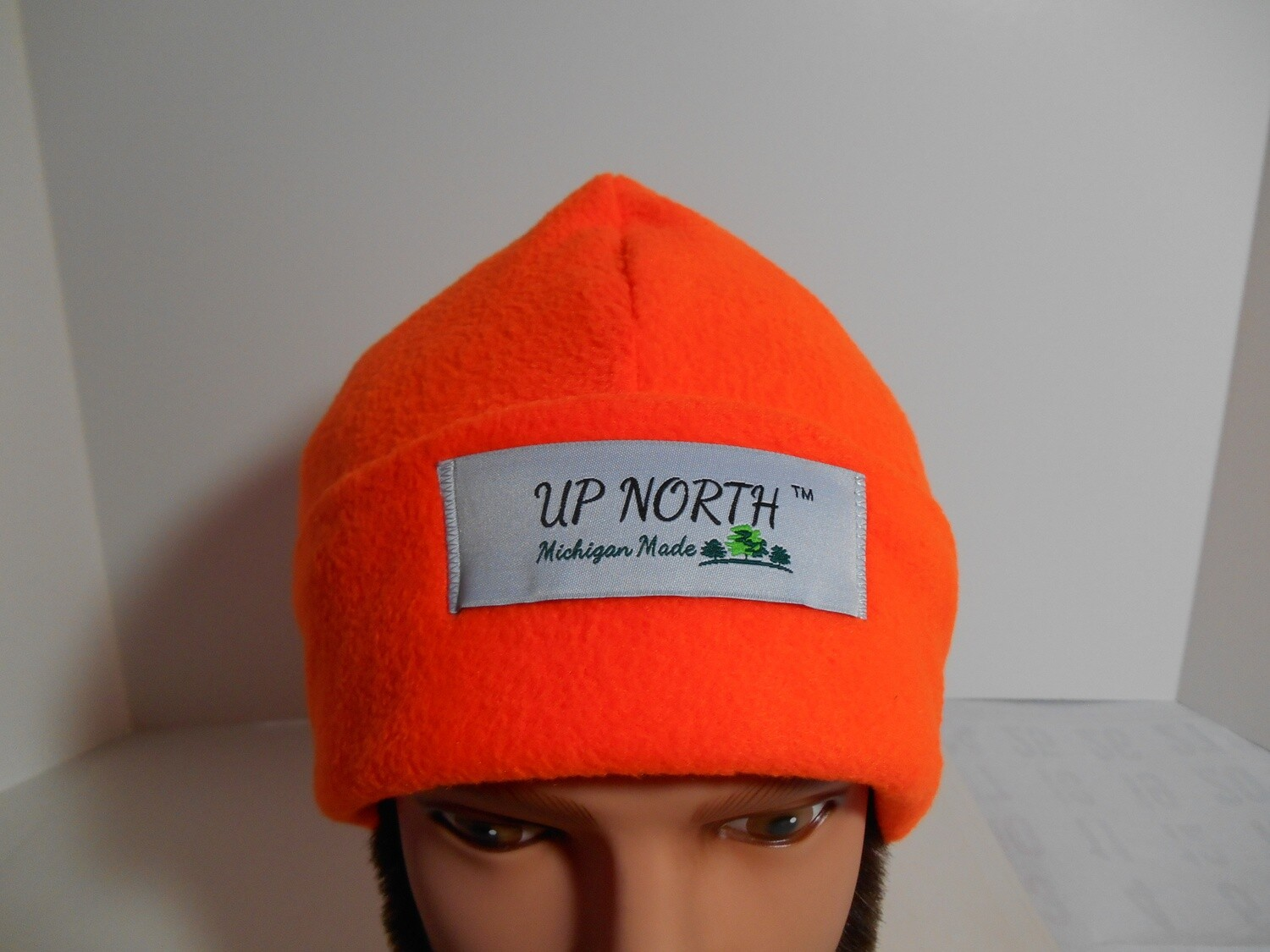 Orange Double Domes Winter Hat with Face Cover