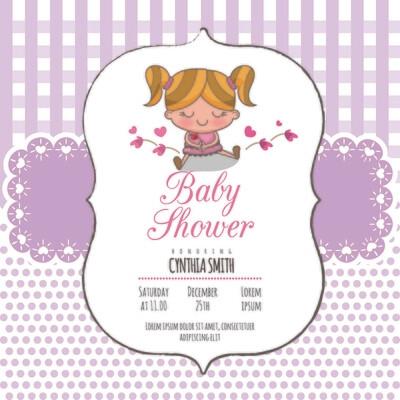 Digital file Shower Invitation Baby Arrival Announcement