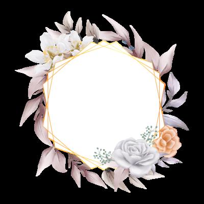 Elegant Floral Frame For Composition