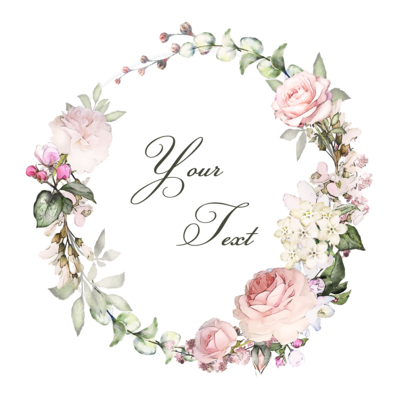Digital file Floral Wreaths With Typography