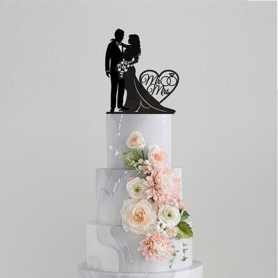 Mr & Mrs Couple Cake Topper