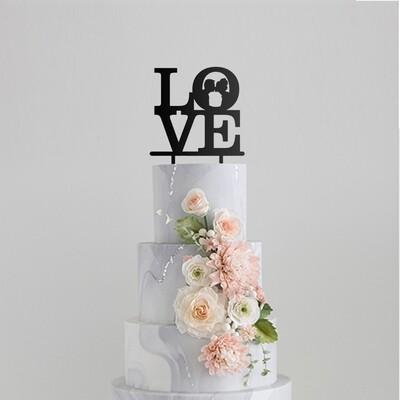 Love You More Cake Topper
