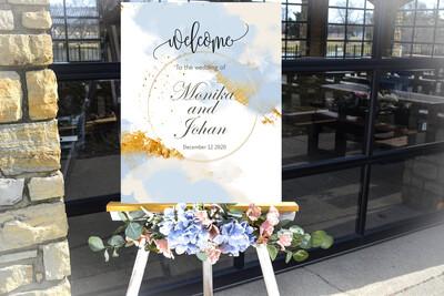 Digital File Elegant Creative Wedding welcome sign