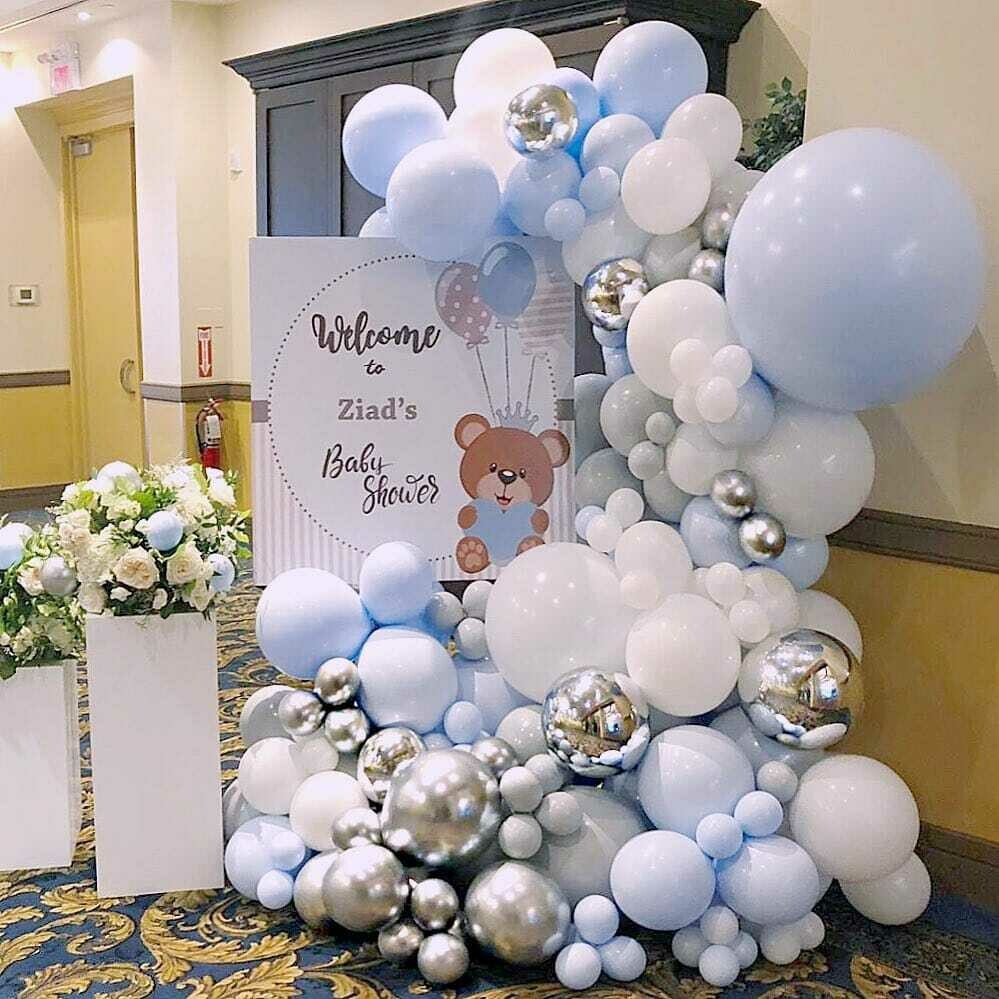 160 pcs DIY Latex Balloons Garland blue Cute Pastel Color Mixed  1th Baby Birthday Wedding Party Decorations Supplies
