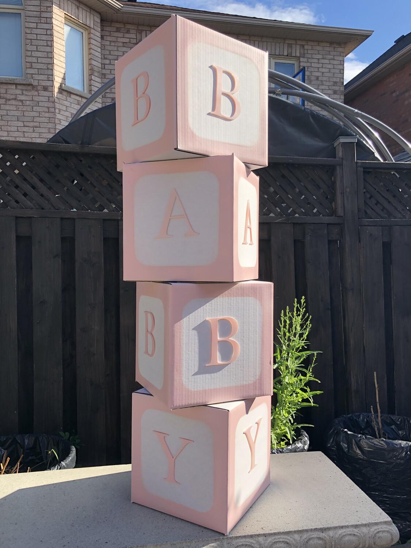4pcs/set DIY Transparent Box Balloon BABY LOVE Scatola for Boy Girl Baby Shower Wedding Birthday Party Caja Decoration Backdrop