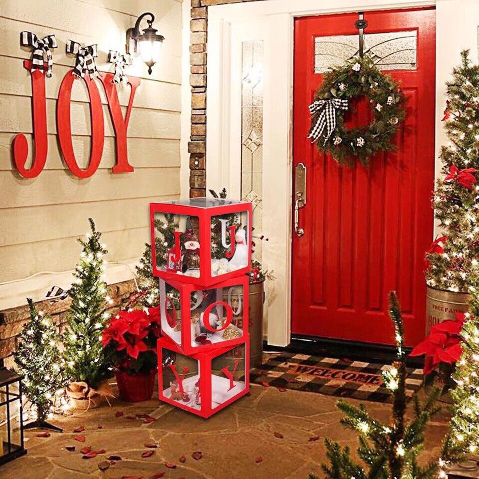 FENGRISE Merry Christmas Gifts Box Christmas Decoration For Home Cristmas Joy Decor 2019 Christmas Ornaments Happy New Year 2020