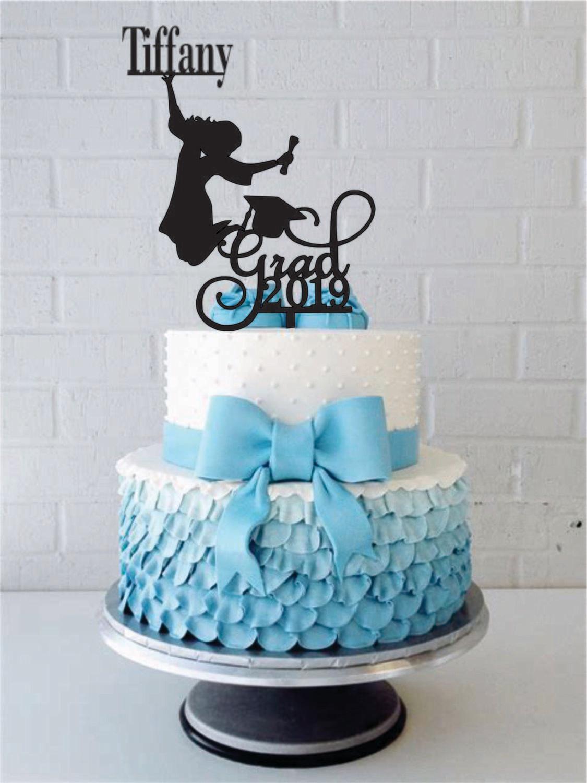 Custom Personalized Name Graduation Girl Woman Cake Topper