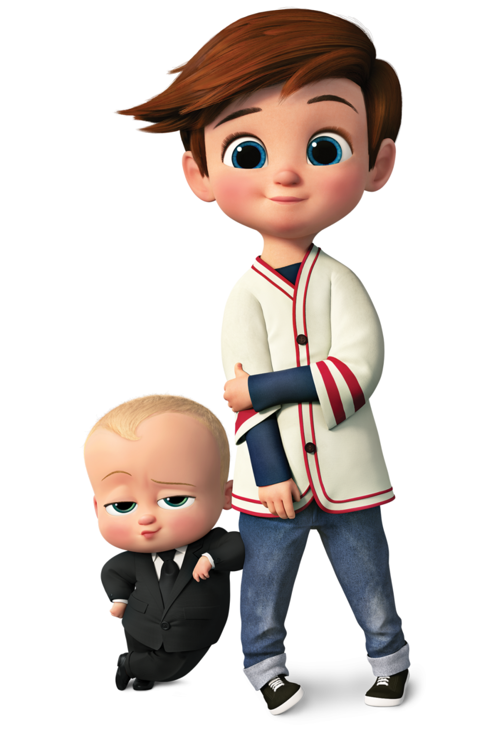 Die cut Tim and Tim's Brother Baby boss character for boy's Birthday Party Themes Baby boss