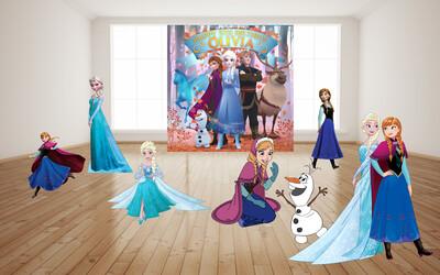Frozen 2 Birthday backdrop Frozen Birthday banner Frozen photo prop Frozen birthday sign Frozen Party