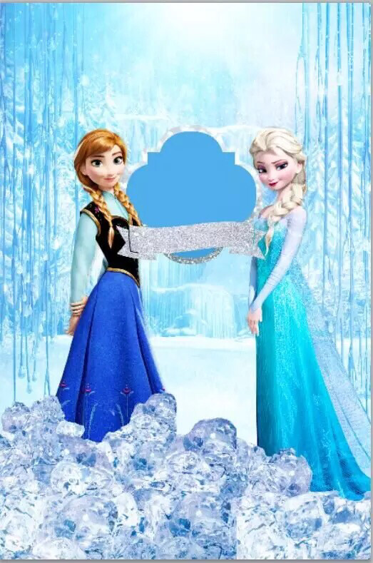 Queen Elsa Anna Princess Snow Waterfall Falls Ice Custom Photo Studio Backgrounds Backdrops