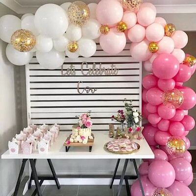 Pink Purple Macaron Balloons Blanc Happy Birthday Baloons Wedding Decoration Kids Pastel Balloons Baby Shower Girl Party