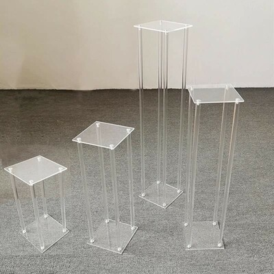 Square shape Table flower rack 40 - 50 - 60 - 70 - 80 - 90 cm tall acrylic wedding road lead wedding centerpiece event party decoration