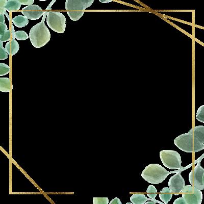 Green Simple Eucalyptus Leaf Border