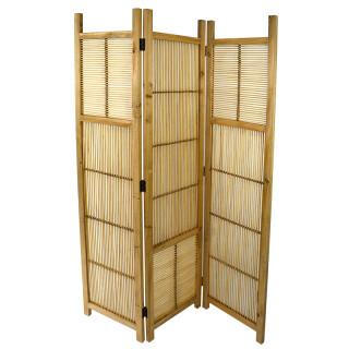 3 Section Natural Wood Room Divider FU2315