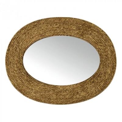 Dharma Oval Grass Weave Mirror FU2427