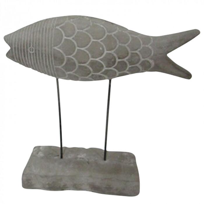 Flo Fish Cement Sculpture