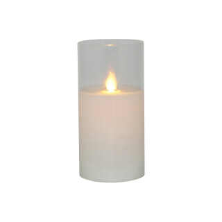 LED Glass Jar Clear Pillar Candle