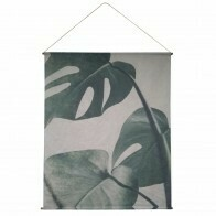 Vintage Monstera Wall Art Canvas Hanging 154x186cm