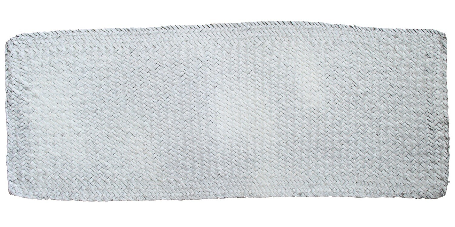 Woven Table Runner - Natural and White