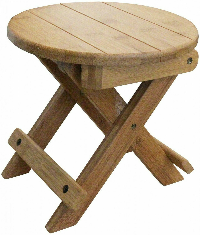 Bamboo Folding Mini Stool/Stand Round
