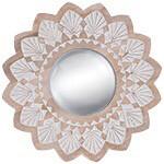 Wood Round Mirror 60cm