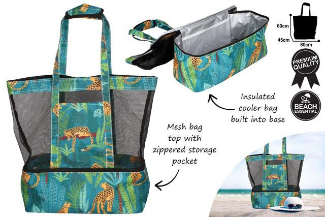 2 In 1 Beach And Cooler Bag - Jungle Safari