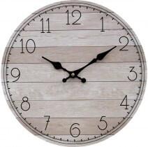 Clock Natural And Black 34cm LC9673