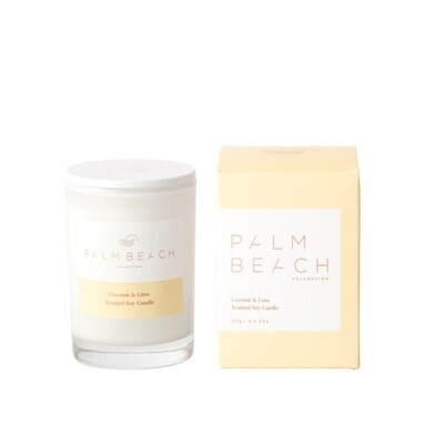 Palm Beach Mini Soy Candle 90g 25 Hours Burn Time - Coconut And Lime
