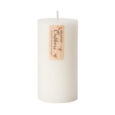 Elume Outdoor Citronella Pillar Candle - With Citronella, Tea Tree And Lavender