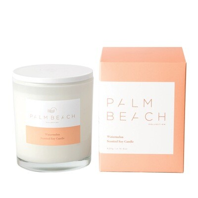 Palm Beach Soy Candle 420g 80 Hours Burn Time - Watermelon
