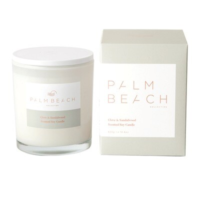 Palm Beach Soy Candle 420g 80 Hours Burn Time - Clove And Sandalwood