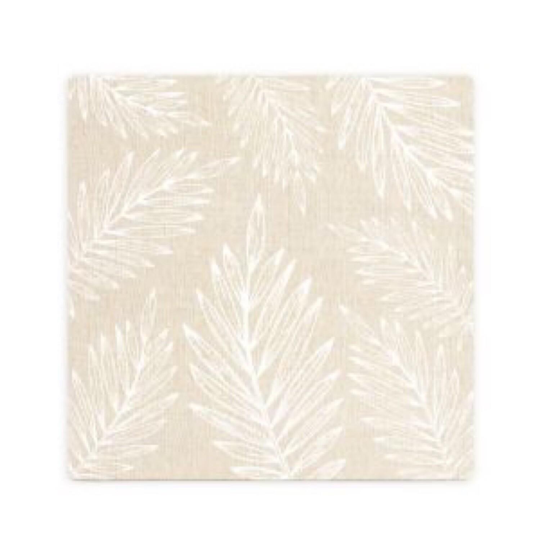 Splosh Beige Leaf Pattern Ceramic Coaster