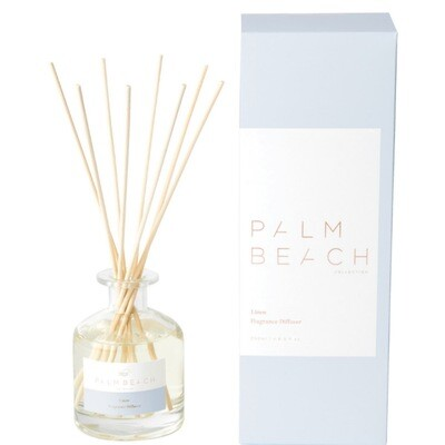 Palm Beach Large Diffuser 250ml Up to 5 Months Scent Life - Linen