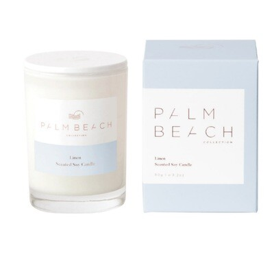 Palm Beach Mini Soy Candle 90g 25 Hours Burn Time - Linen