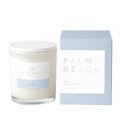 Palm Beach Soy Candle 420g 80 Hours Burn Time - Linen