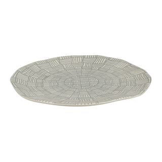 Else Ceramic Plate Grey And White 25.5cm TW0332