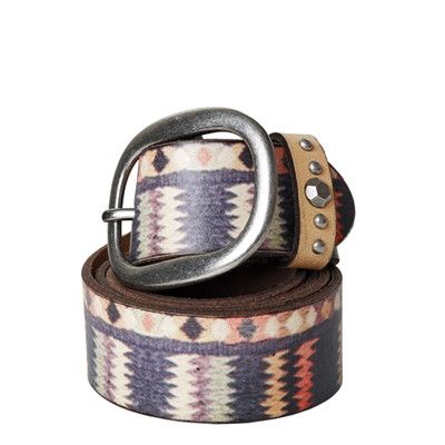 Bohemian Zig Zag Belt Multi - Large And Medium