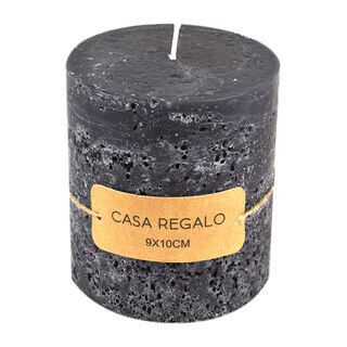 Earth Pillar Candle Charcoal