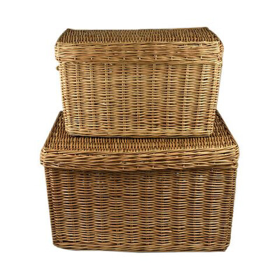 Cane Trunk With Lid Small