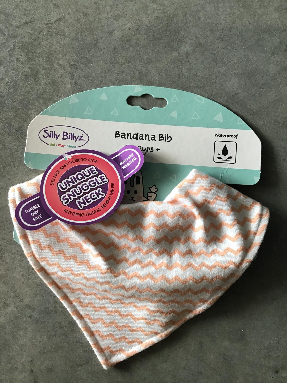 Bandana Bib Pink Chevron