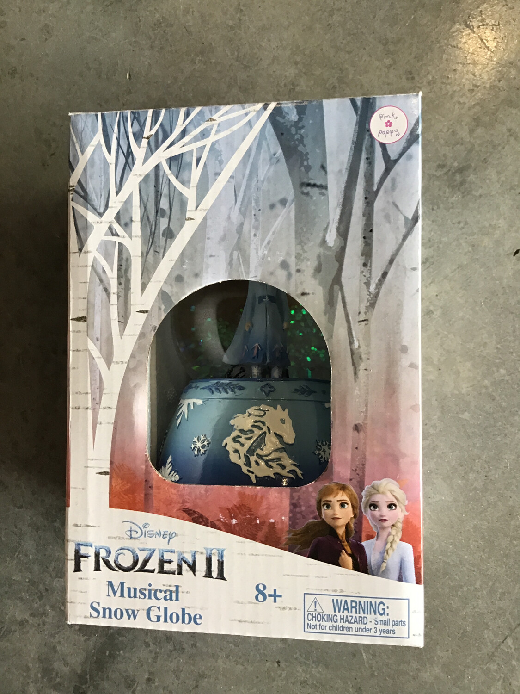 Frozen 2 Musical Snow Globe Blue