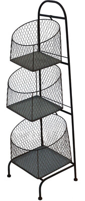 Rustic Wire 3 Tier Stand WH4044