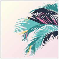 Canvas Print Teal Palms