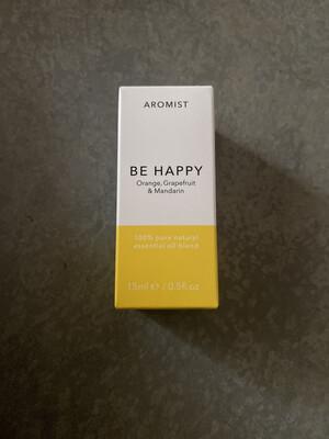 Aromist Natural Essential Oil 15ml - Be Happy ~ Orange, Grapefruit & Mandarin