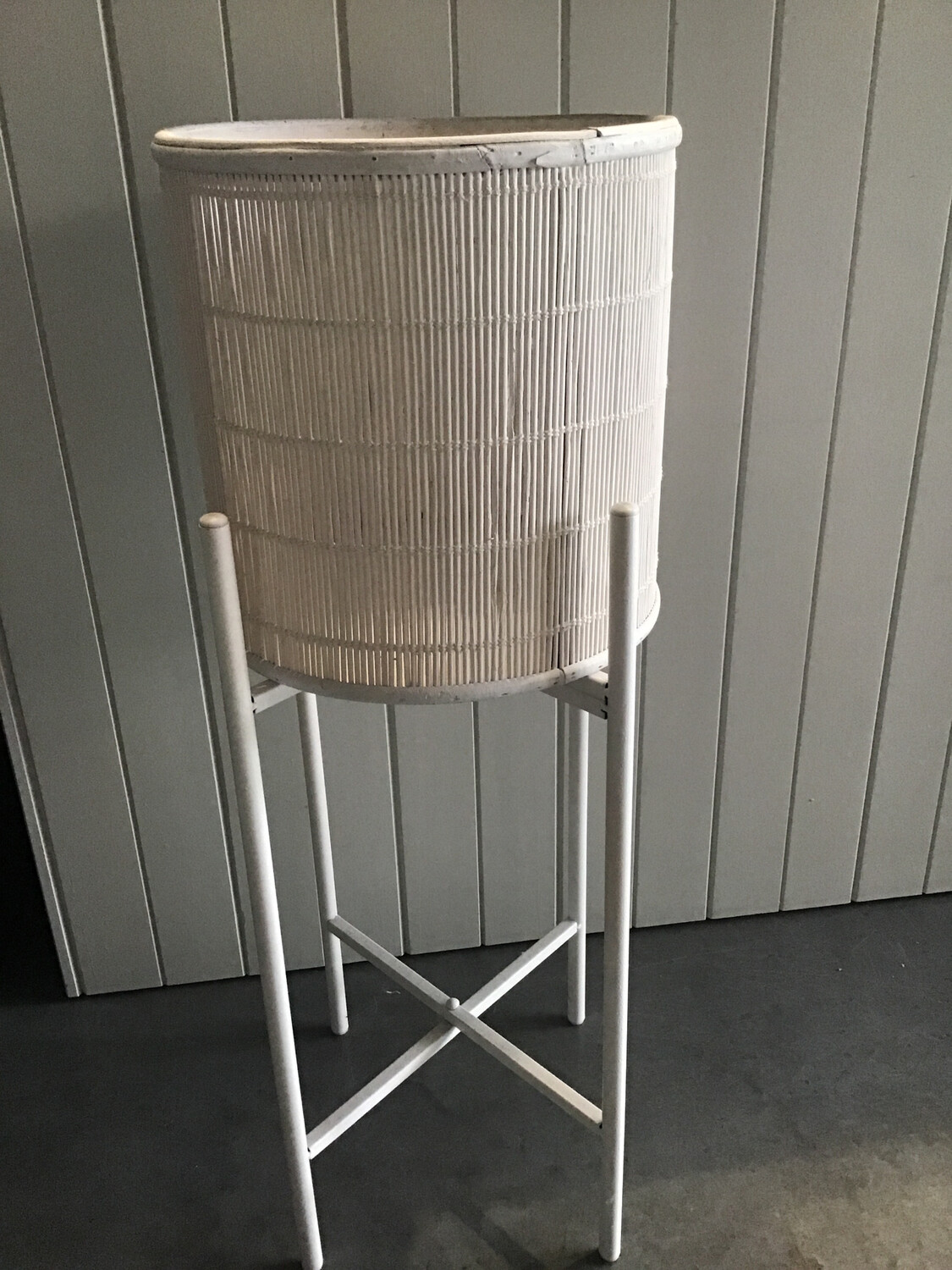 Medium White Cane Planter