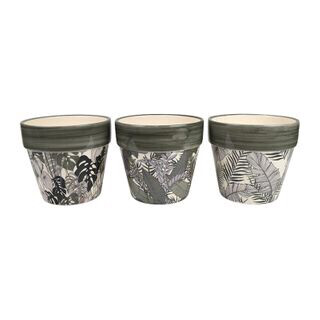 Tropical Ceramic Pots 2 Designs GA1530
