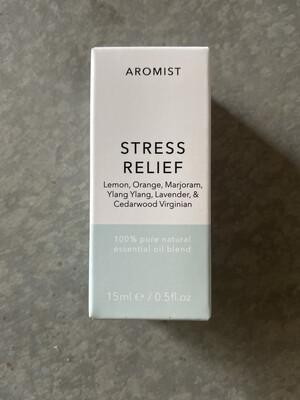 Aromist Natural Essential Oil 15ml - Stress Relief ~ Lemon, Orange, Marjoram, Ylang ylang, Lavender & Cedarwood